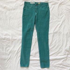 Pilcro & The Letterpress Teal Corduroy Skinny Jean